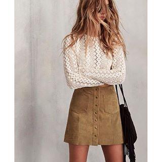 falda cafe con botones - Google Search  6c6a42c8ec3f
