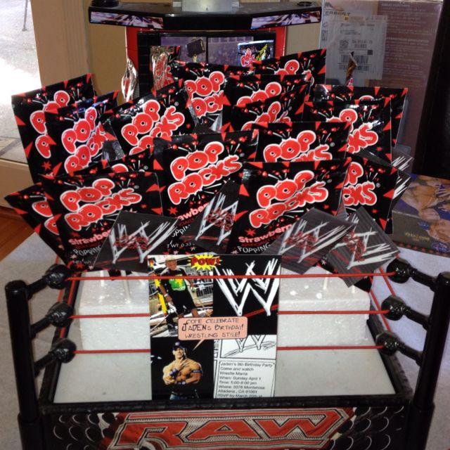 Pop Rocks On Sticks Displayed On A WWE Wrestling Ring