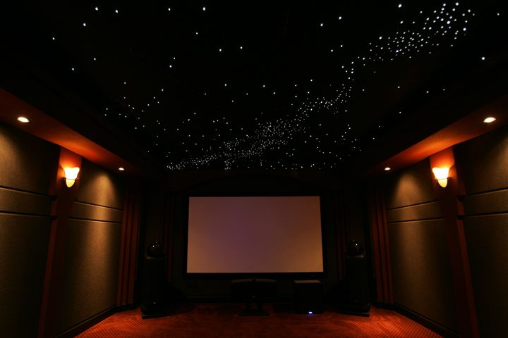 Fiber optic star ceiling & home theater | Home theater ...