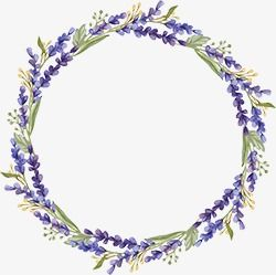 Lavender Wreath Lavender Wreath Purple Png And Vector With Transparent Background For Free Download Floral Wreaths Illustration Wreath Watercolor Floral Border Design