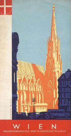 Vienna Vintage Travel Poster Google Search Poster Affiche