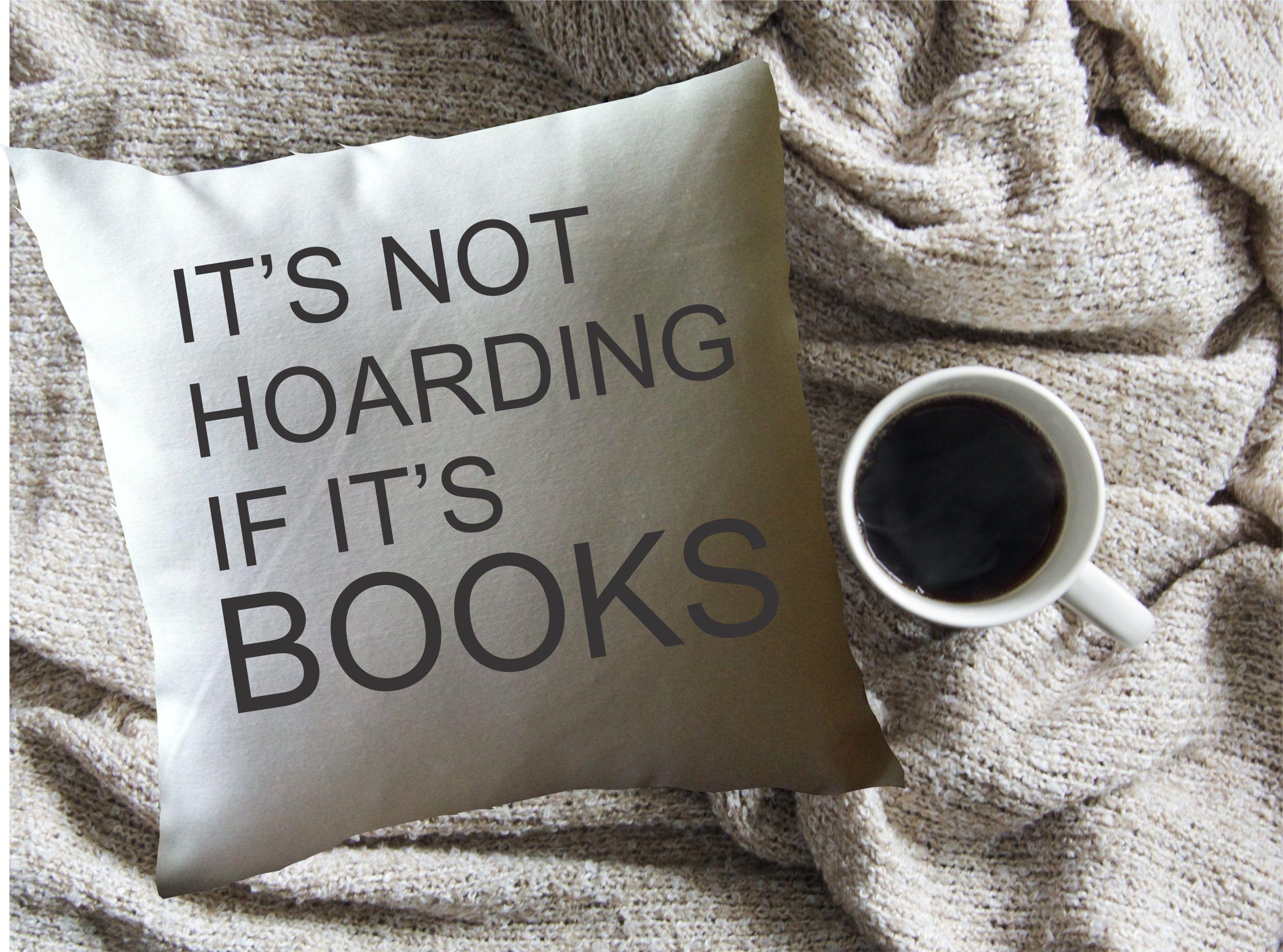 Book Lovers Pillow Decorative