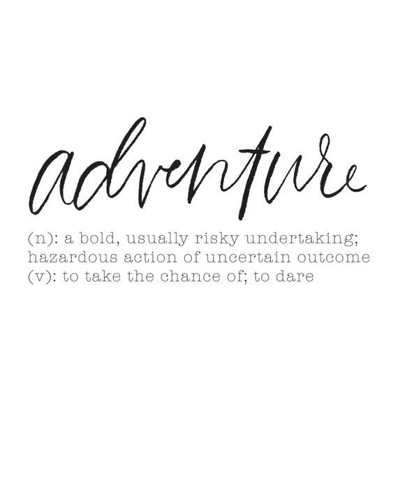 Adventure Definition Art Print  Definition quotes, Unusual words, Definition art