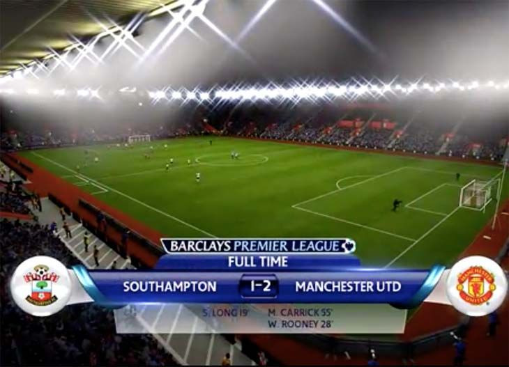 Southampton V Man Utd Sim With Rooney Carrick Goals Southampton Manchester United Today Xbox One Games