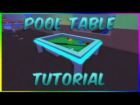 How To Make A Pool Table! Roblox Lumber Tycoon 2 (Tutorial