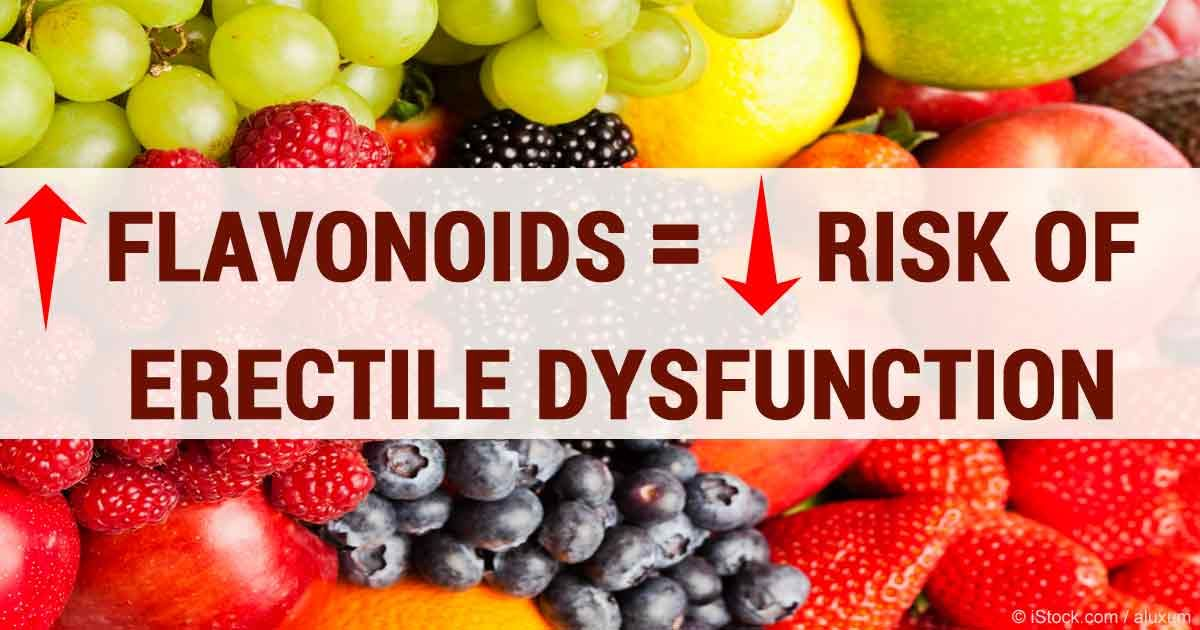Research has demonstrated that men younger than 70 who regularly eat foods with flavonoids will have an 11 to 16 percent reduced risk of erectile dysfunction. articles.mercola....