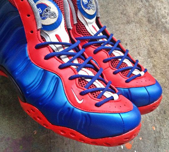 check out 72c9d 81154 Nike Air Foamposite One New York Giants by noldocustoms