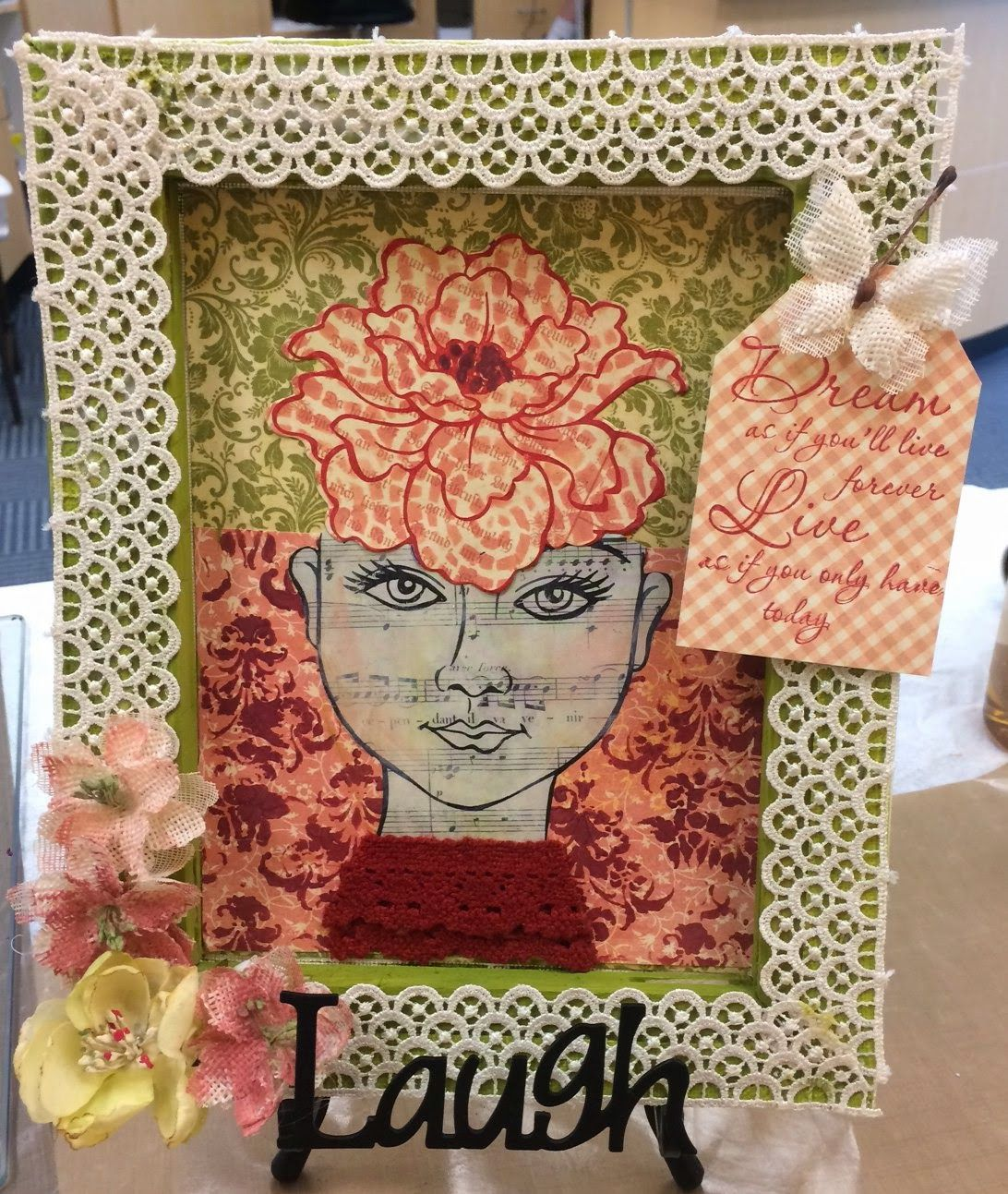 #cre8time for mixed media by The Scrappy Chick: #Stampendous and #DreamweaverStencils Blog Hop