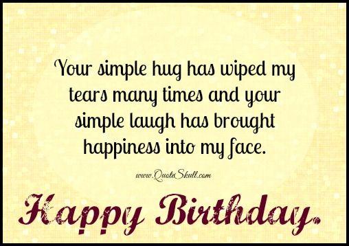 your simple hug birthday