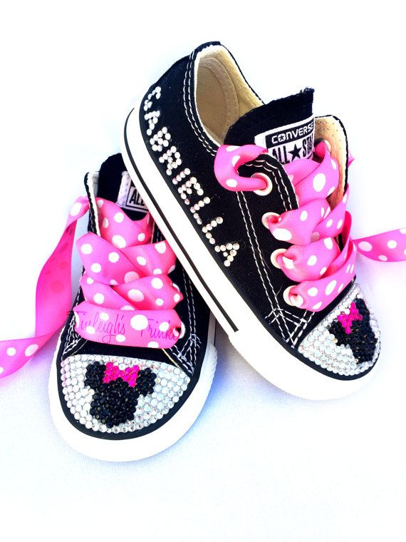 3e59f59e38e80a Minnie Mouse Toddler Converse Bling Shoes Hot by TinleighsTrinkets