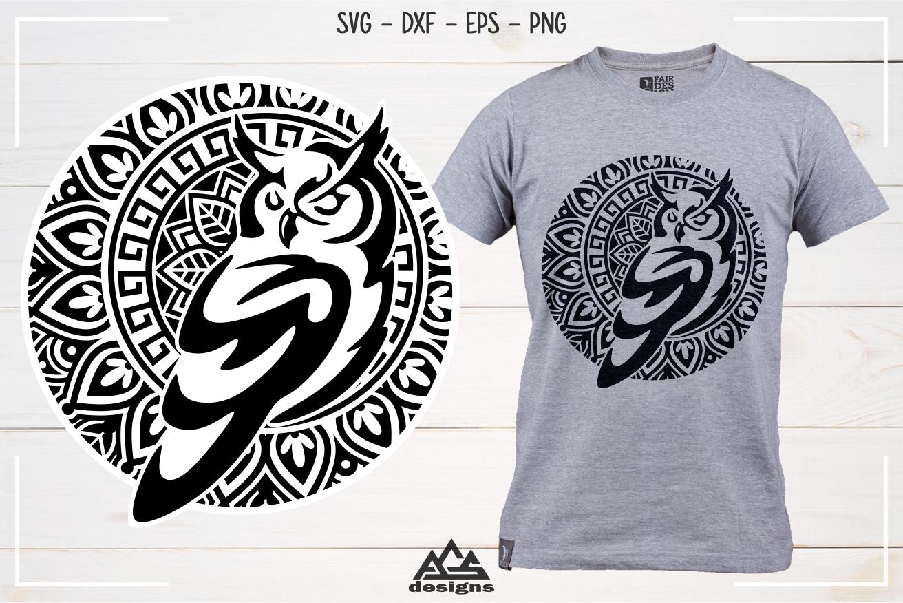 Owl Mandala Art Svg Design в 2020 г