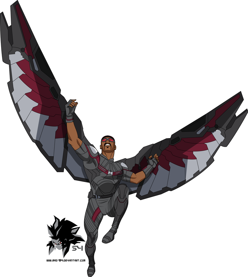 Sam Wilson Aka Falcon Mcu Bruce Timm By Mad 54 Falcon Marvel Avengers Cartoon Avengers Painting