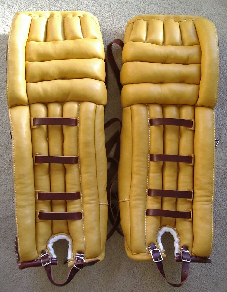 New Goalie Pads Made In The 1960s 1970s Vintage Style Awesome Goalie Pads Hockey Goalie Ice Hockey
