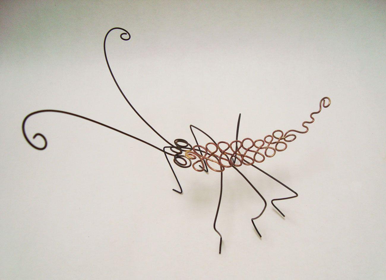 Pin von Tania Macdonald auf wire art | Pinterest | Draht, Insekten ...