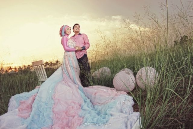 Fotografi pre wedding islamic dress