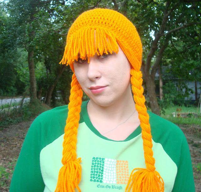 Nyanpon Lassie Wig Crochet Pinterest Yarn Wig Hat