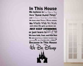 Great In diesem Haus k nnen wir tun Disney Wandtattoo Disney Wand