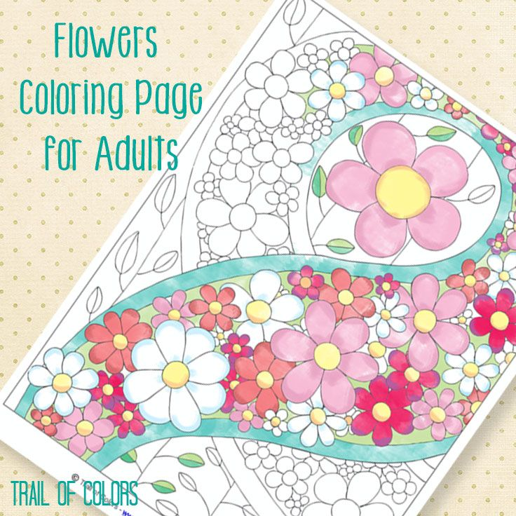 Free Flowers Coloring Page | Colorear, Mandalas y Hoja