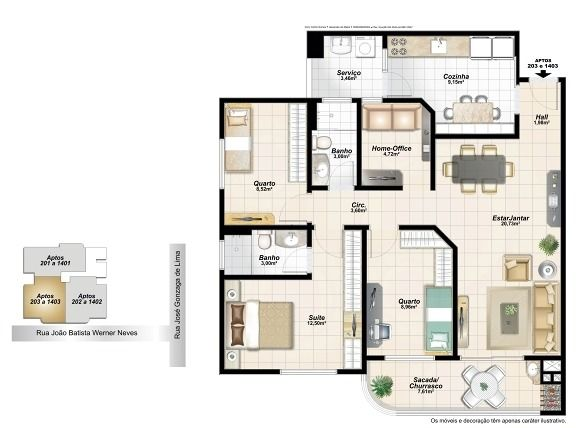 plantas apartamentos 100m2 - Pesquisa Google Plantas Pinterest - plan de maison 100m2