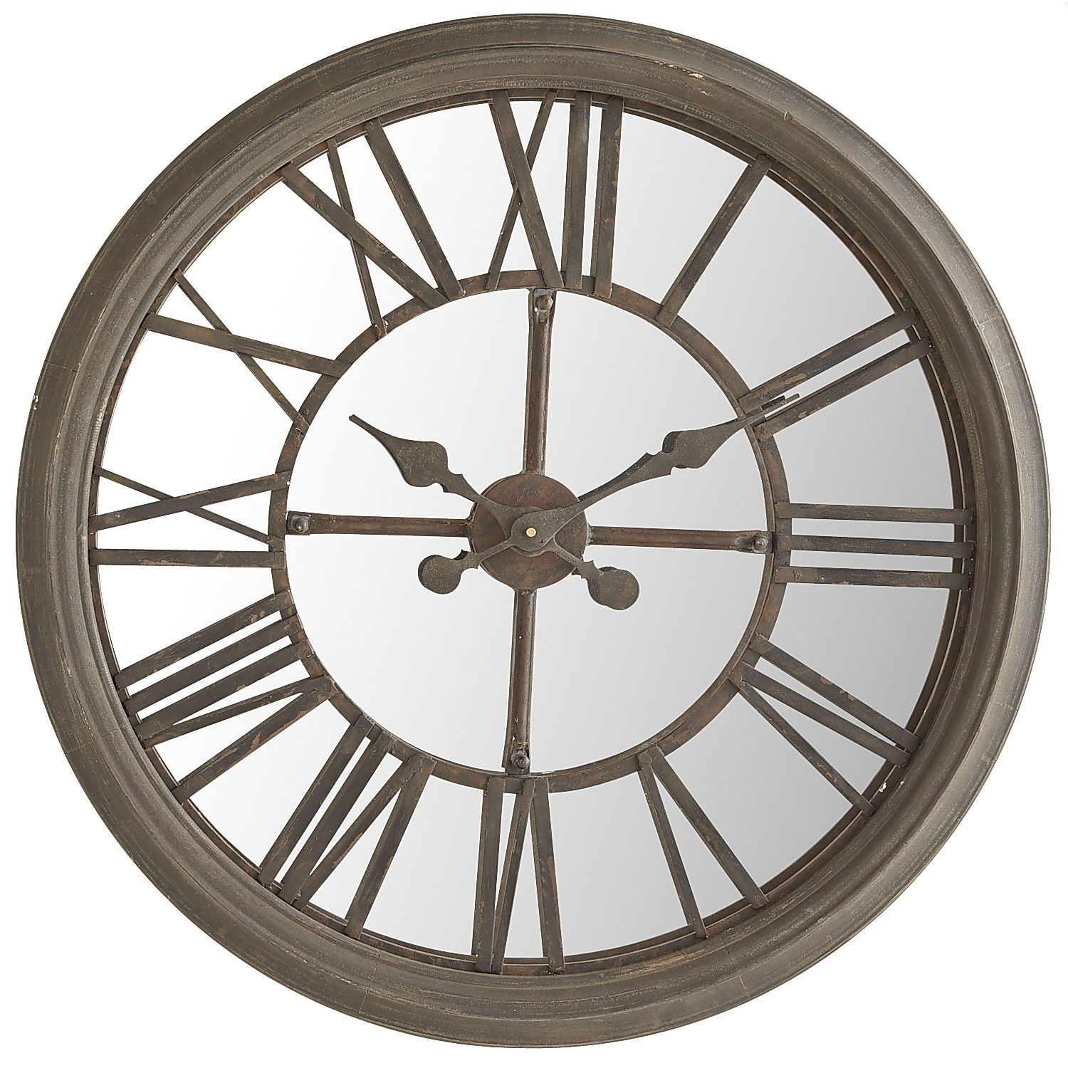 Rustic Mirrored Wall Clock | Pier 1 Imports. A large ...