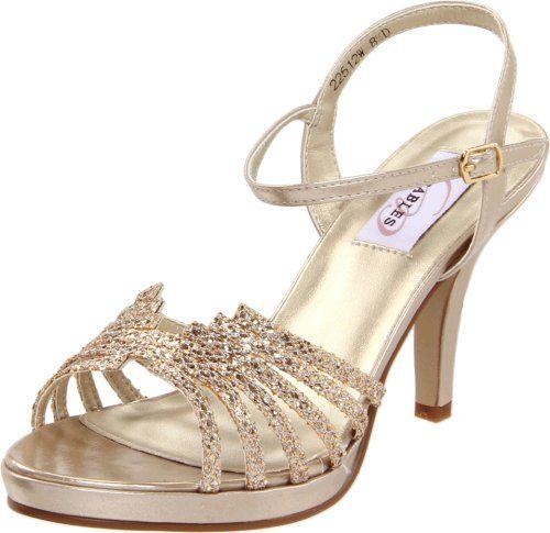 Dyeables Women's Leah Platform Sandal,Champagne Glitter,5 B US Dyeables ,http: