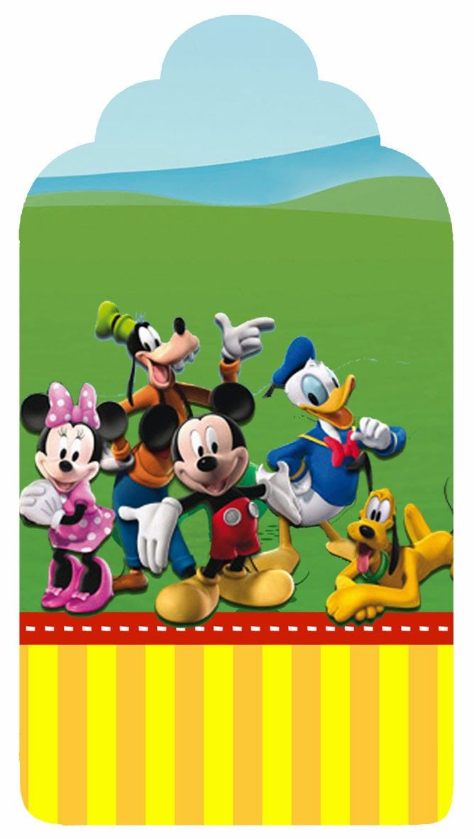 Mickey Clubhouse: Free Printable Candy Bar Labels ...