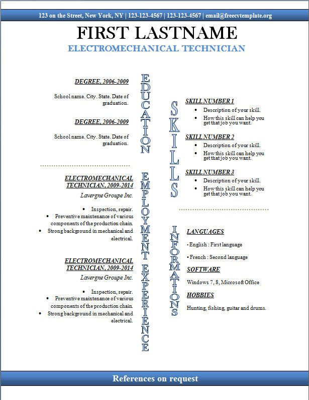 Free Resume Templates Microsoft Word  Get My Free Video