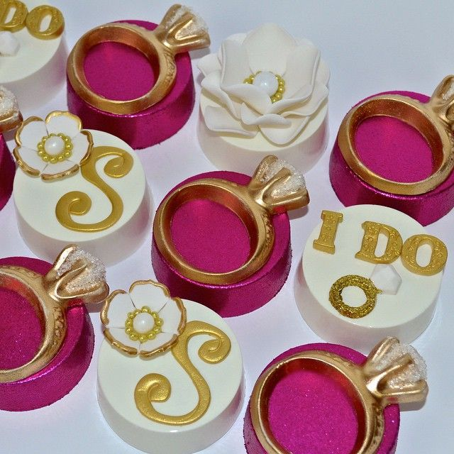 Chocolate Covered Oreos For A Bridal Shower Engagement Rings And