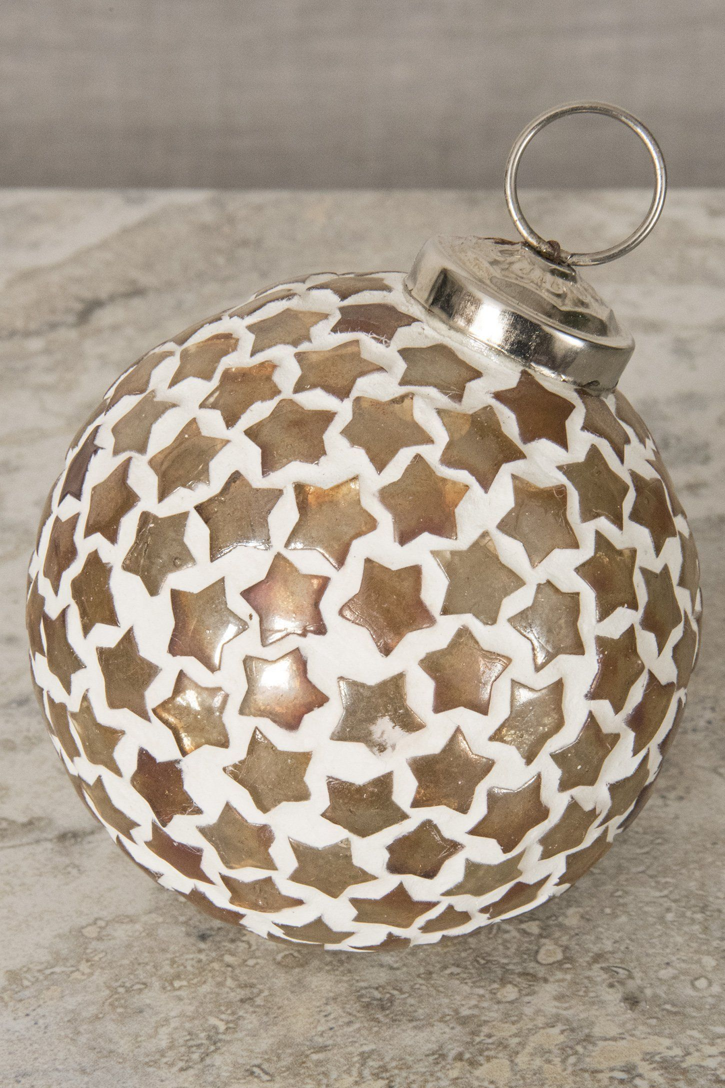 Mosaic Glass Globe Ornament   Globe ornament, Glass globe ...