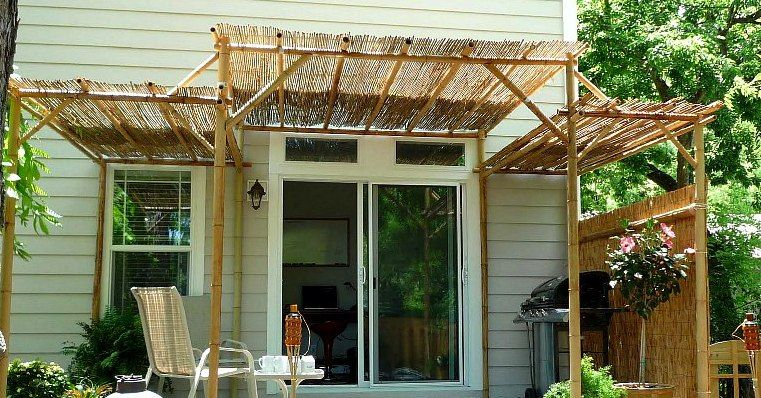 Pin By Terra Beth On Home Landscaping Bamboo Fence Bamboo Pergola