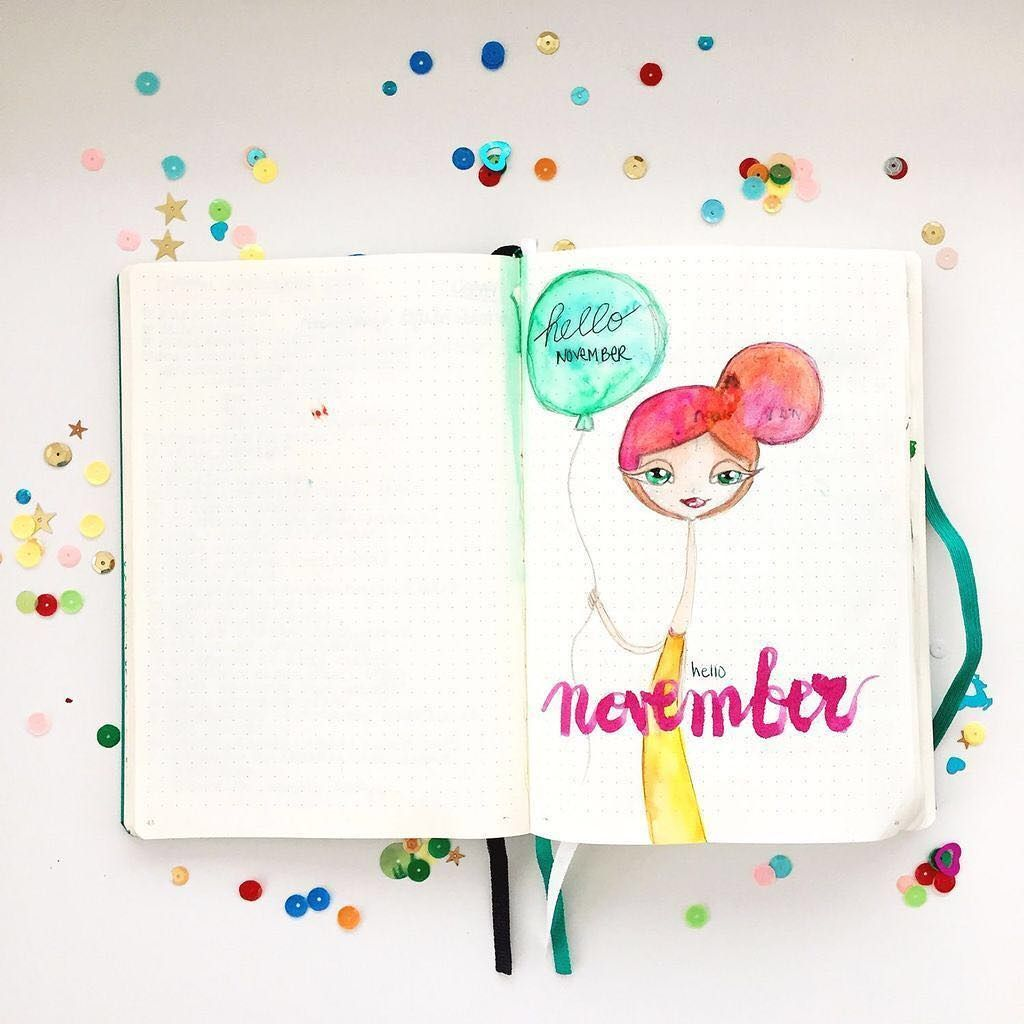 """� revlie. dutch artist � on Instagram: """"hello november. i know. it's almost december, but this is my hello november in my bullet journal �. Go me �⠀ .⠀ .⠀ .⠀ .⠀ .⠀…"""""""