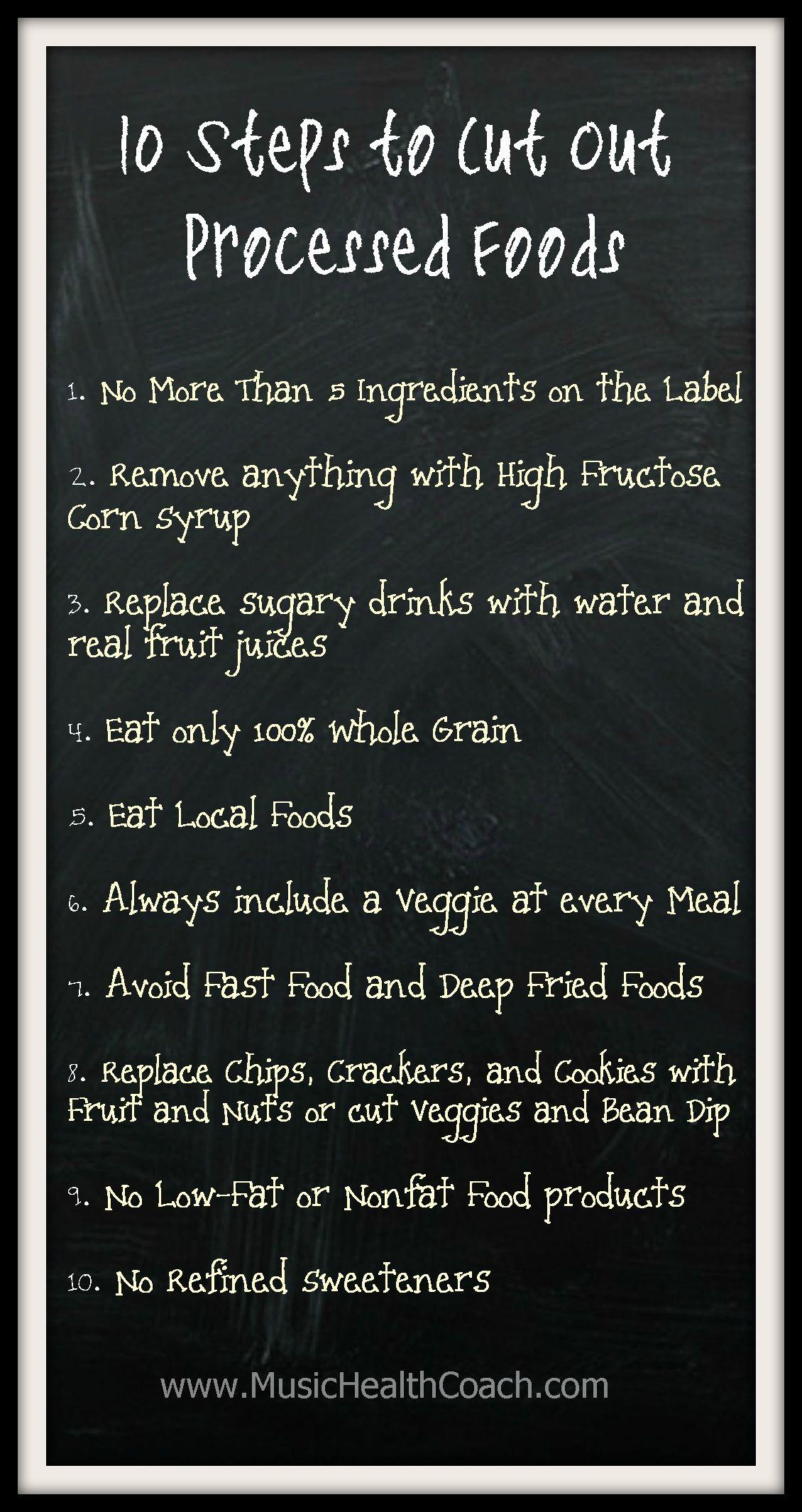 no processed food diet list