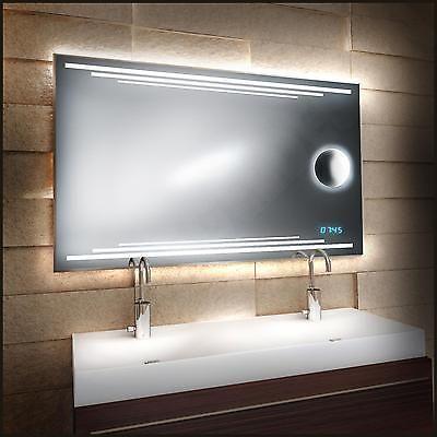 neu design led spiegel mit leduhr badspiegel 239