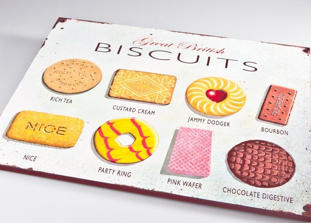 Martin Wiscombe Biscuits Wooden Plaque