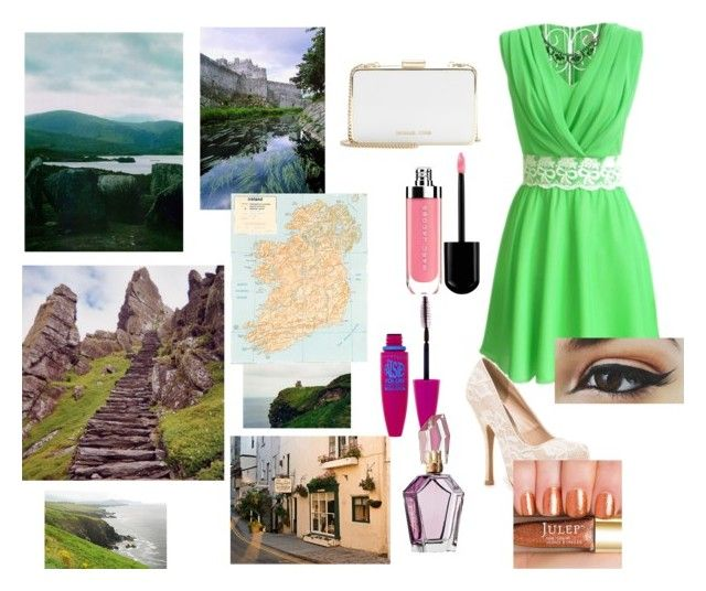 """Touring Ireland"" by emmafayeh ❤ liked on Polyvore featuring Qupid, MICHAEL Michael Kors and Maybelline"