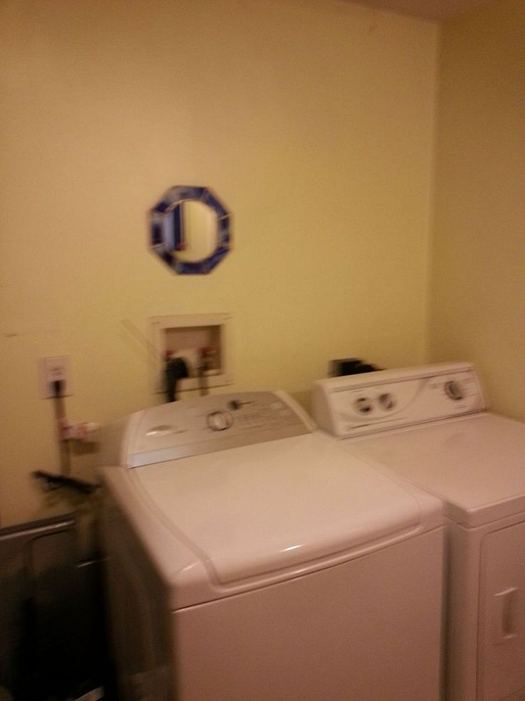 Ideas To Cover The Plugs And Outlets Over The Washer Dryer Casas