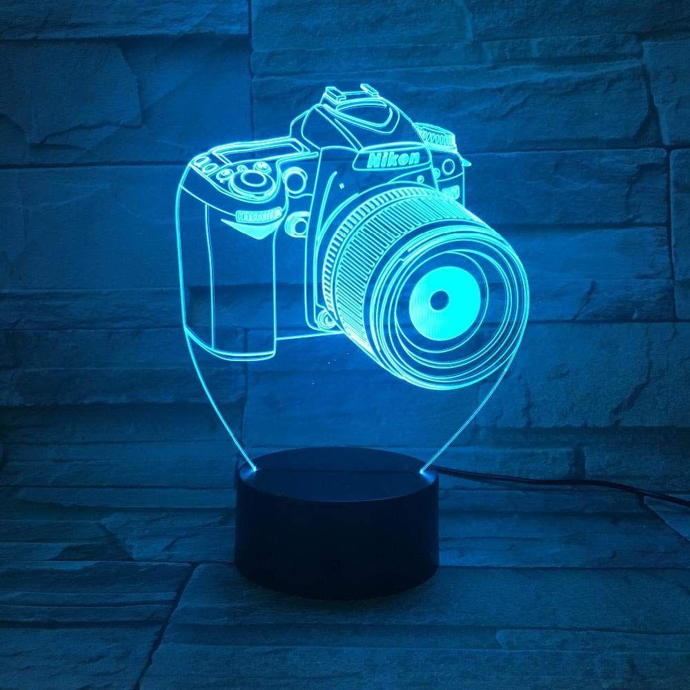 3d Illusion Lampe Table Lumiere De Nuit Optique Led Veilleuse 7 Couleurs Tactile Controle A Distance Chevet Chambre Deco Enfant Avec C In 2020 Table Fan Home Appliances