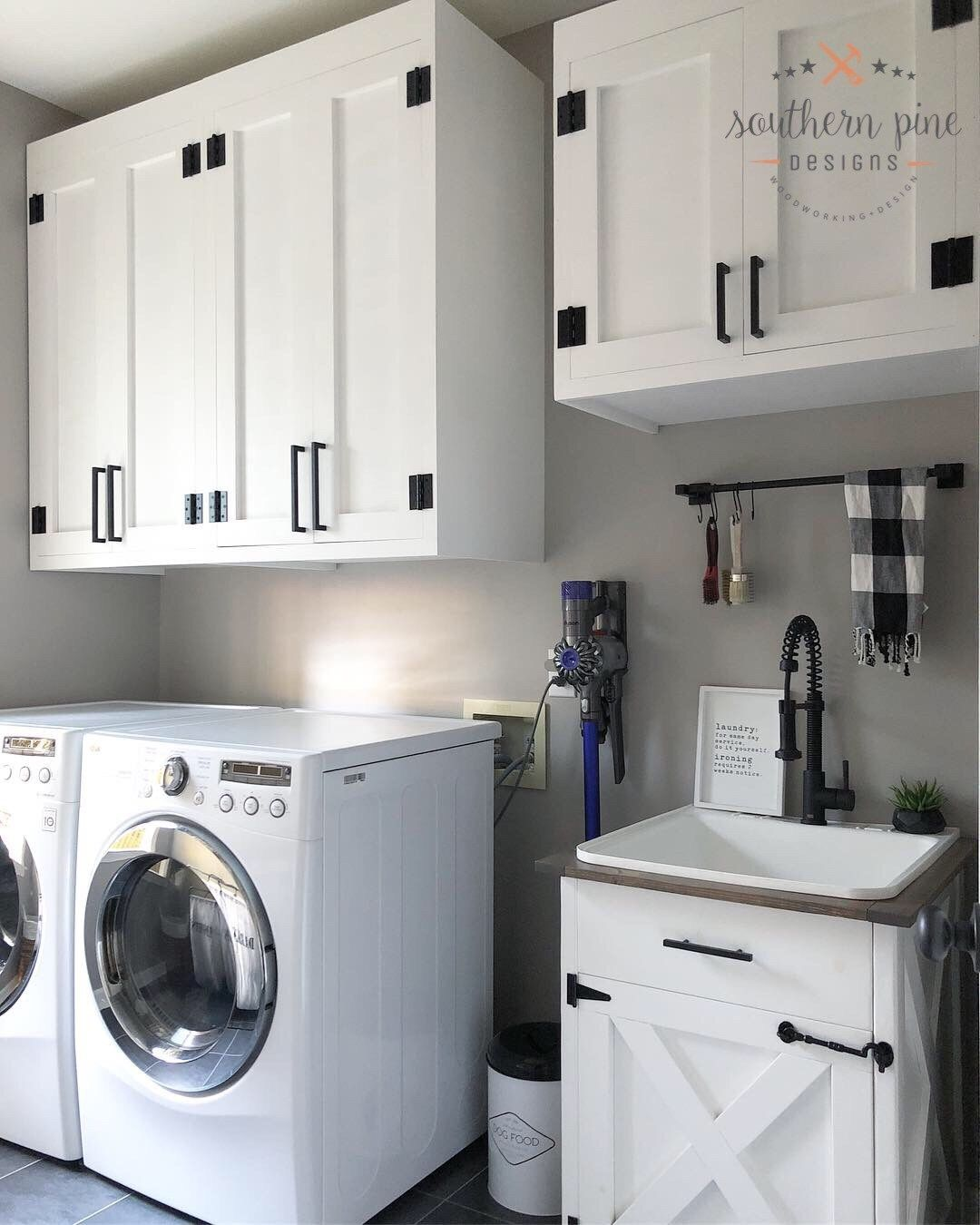 How To Diy Shaker Style Cabinets For Your Laundry Room Laundry