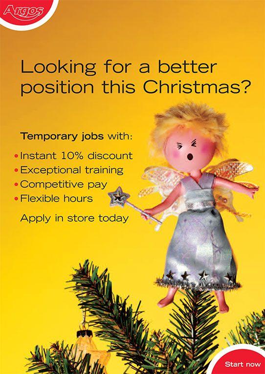 Christmas Recruitment Advertising For Argos Recruitment