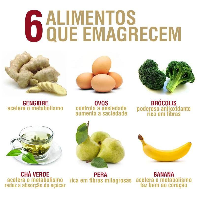 6 Alimentos Que Emagrecem Mais Alimentos Para Emagrecer