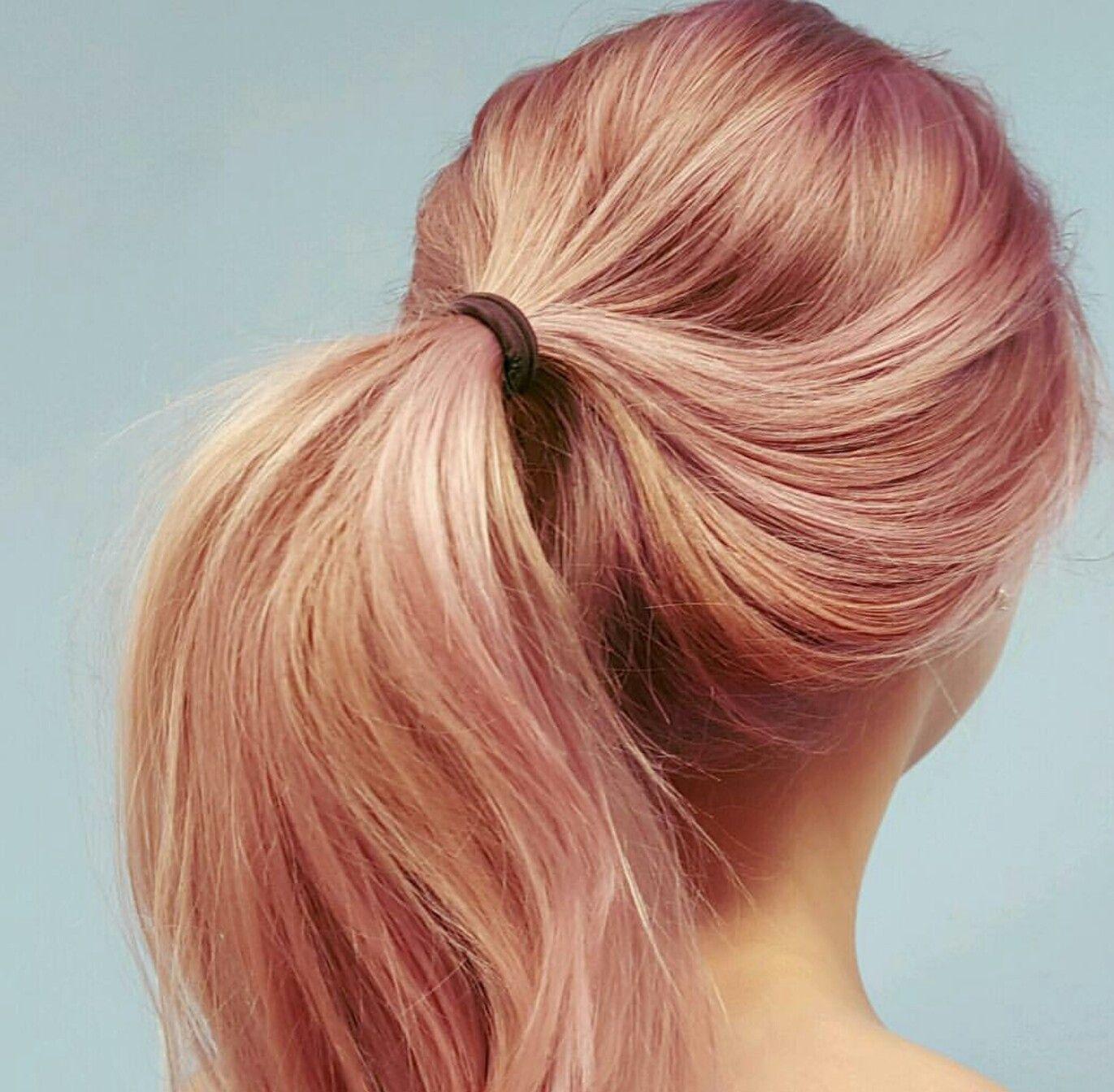 Peachy rosegoldlove  hair  Pinterest  Hair coloring Hair