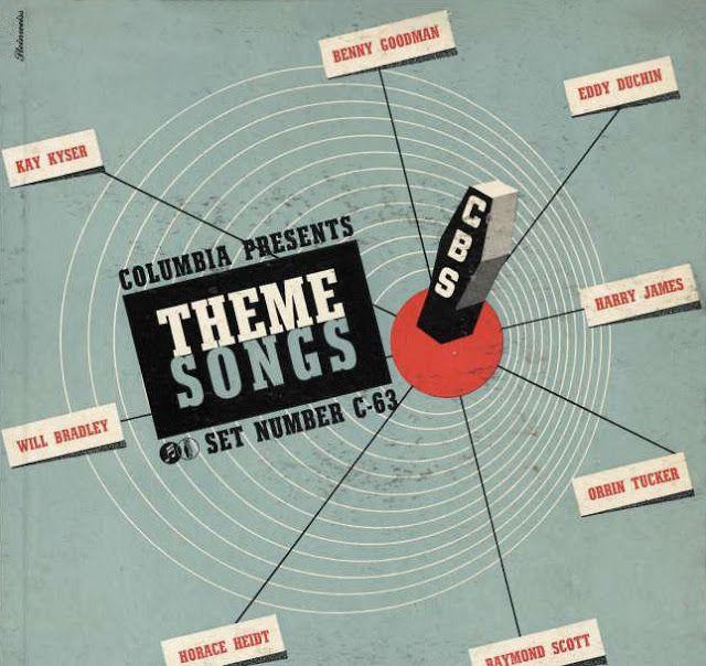 Cbs Theme Songs 1941 78rpm Album Cover Design Typography By Alex Steinweiss Columbia Records Album Cover Design Album Covers