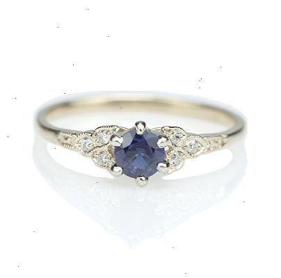 4ae2a63babb1 Replica Art Deco Sapphire Engagement ring - 3188-03 anillos de compromiso
