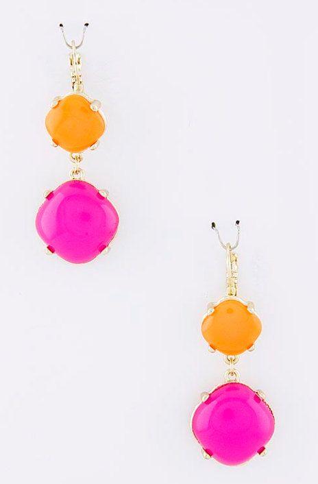 Hot Pink Orange Earrings Jcrew Inspired By Graysroom