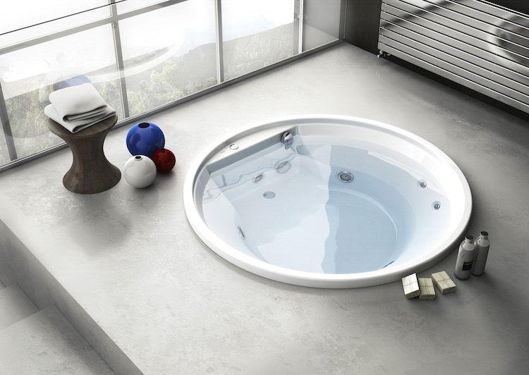 Rond Bad Met Massage Jets Badkamer Badkamer Inspiratie Interieurtips
