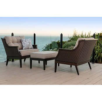 Sensational Palmetto 3 Piece Chat Set 699 99 Costco Screen Porch Home Remodeling Inspirations Basidirectenergyitoicom