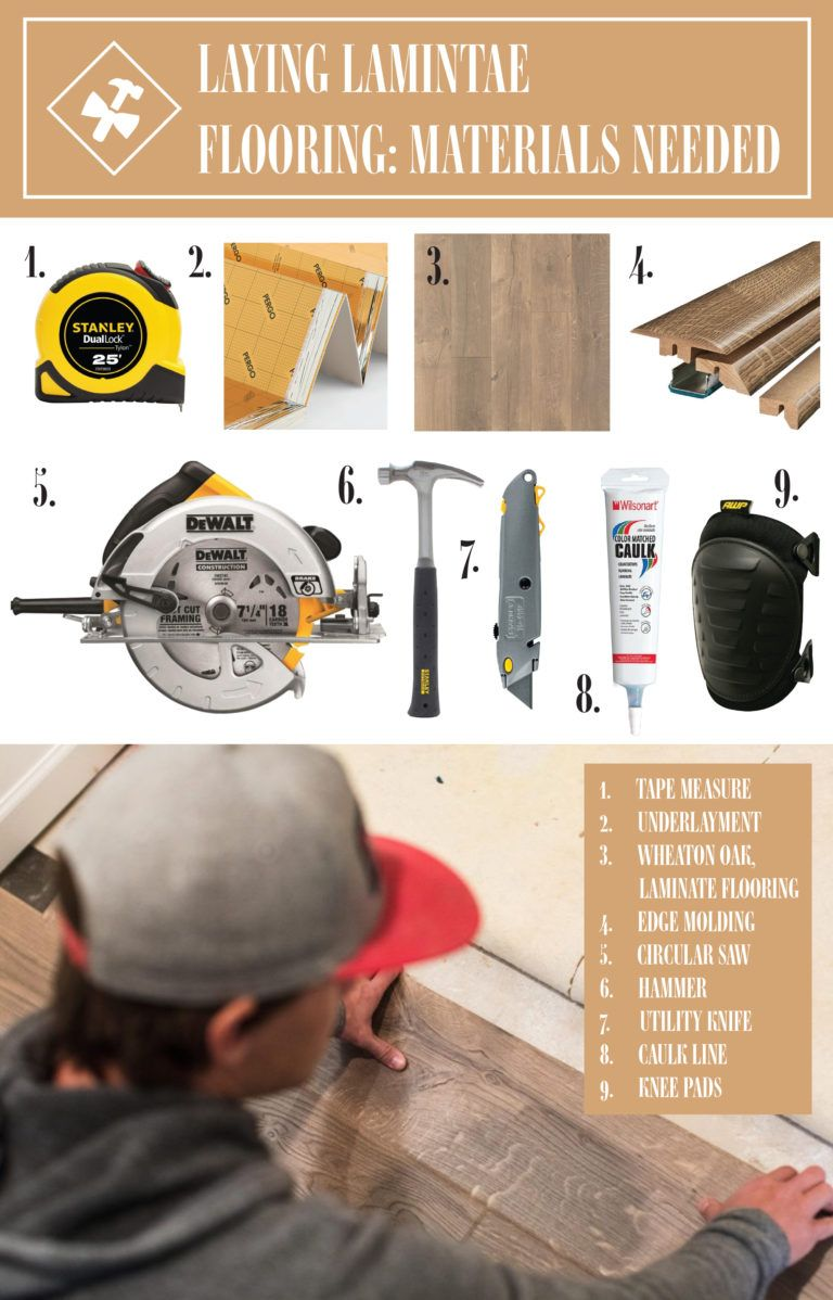 Installing Laminate Flooring, What Equipment Do You Need To Lay Laminate Flooring