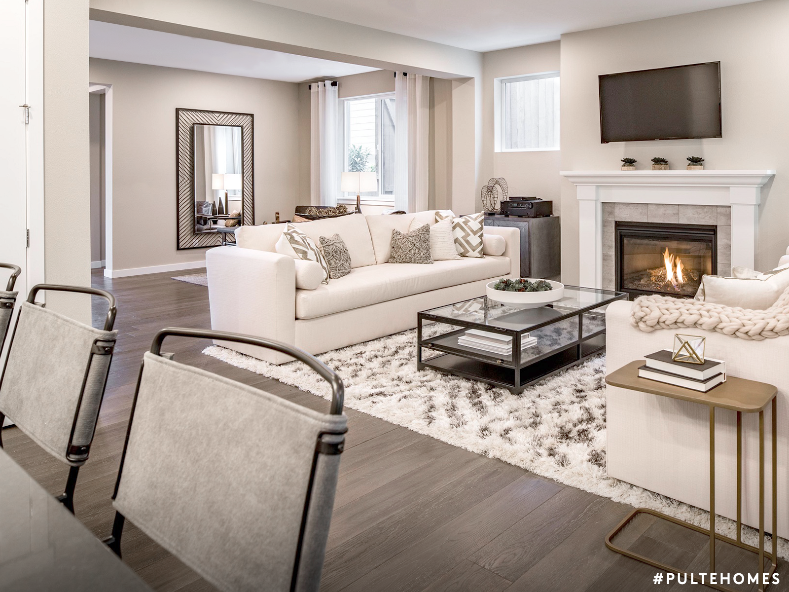 Make Your Home S Space Go Further With An Open Concept Floor Plan Pulte Homes Open Concept Living Room Condo Living Room Unique Living Room Furniture #open #floor #plan #living #room #ideas