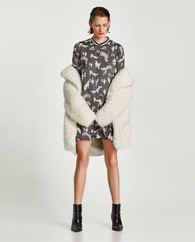 Mi España Vestido Zara Mujer Estampado Última Gatos Semana xww14q8F