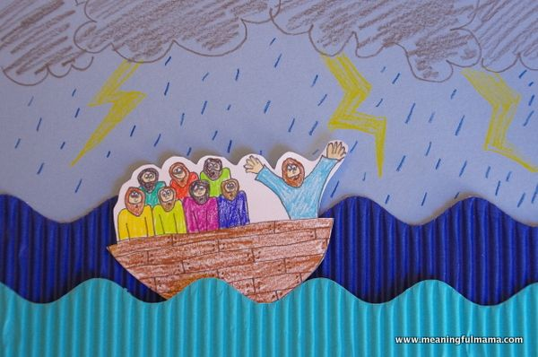 Jesus Calms The Storm Craft Jesus Calms The Storm Bible Crafts Bible School Crafts